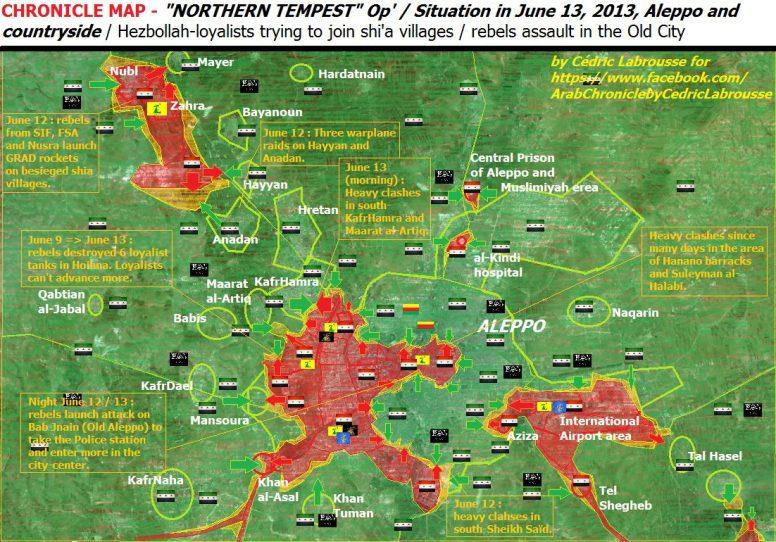 Aleppo Map June 13