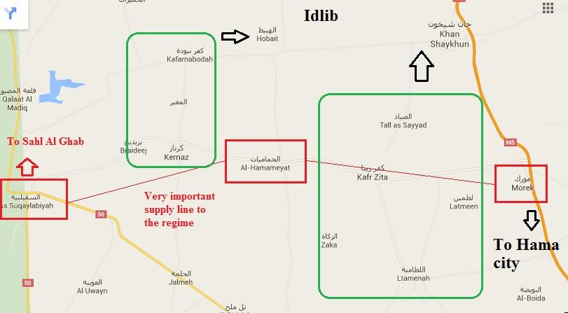 Syria Hama northern rif Map YALLA SOURIYA