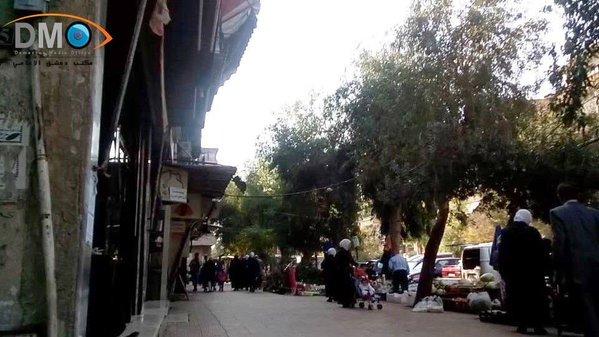 Syria, Damascus street today – no males   YALLA SOURIYA