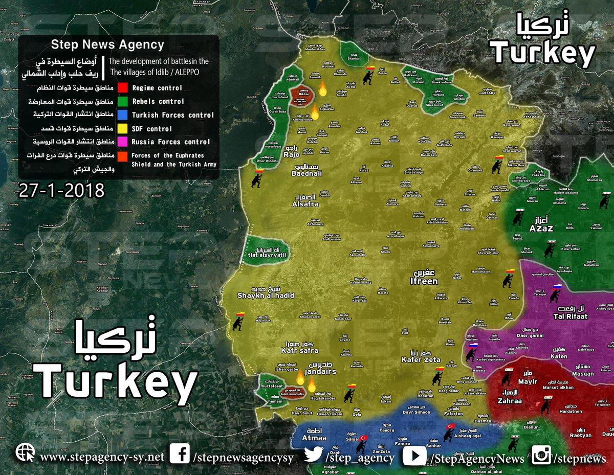 Operation Olive Branch recent map YALLA SOURIYA