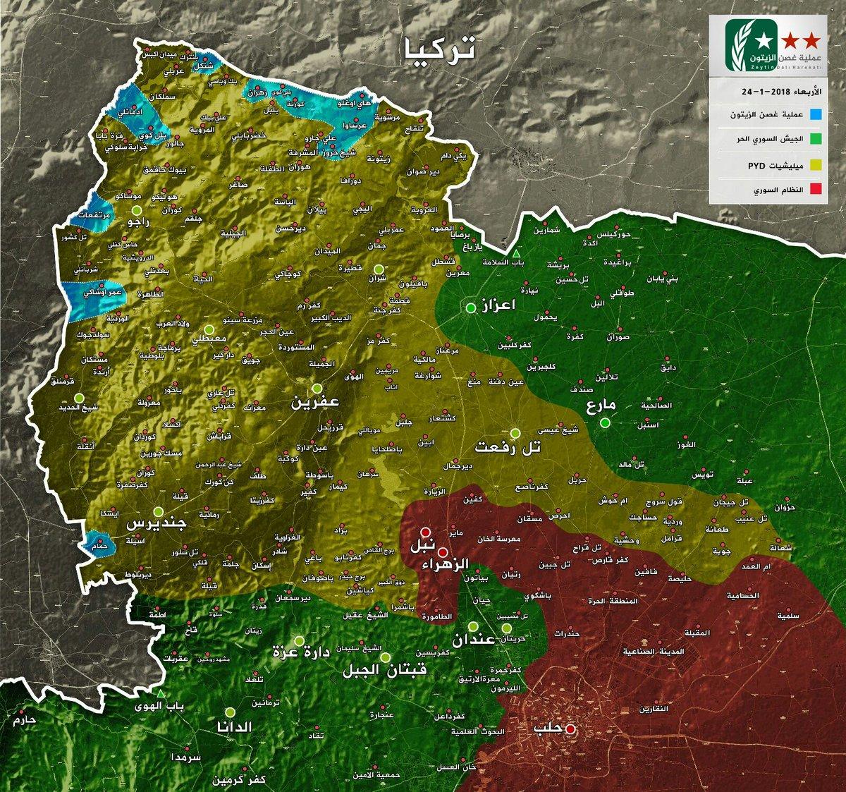 Operation Olive Branch map YALLA SOURIYA