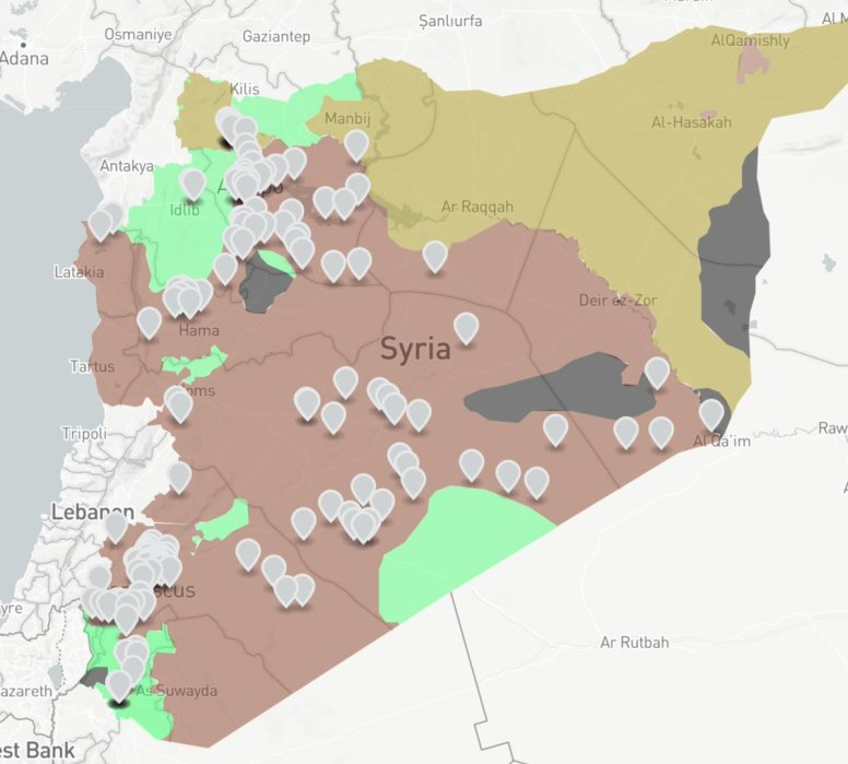 SyriaInteractive Map Of Jihadi Foreign Shia Militia Fighting For - Syria interactive map